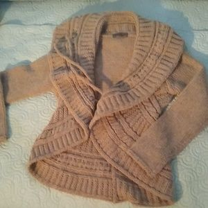 A knitted cardigan